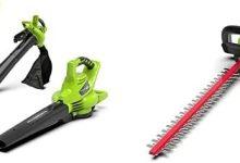 Greenworks Tools 062200907 Cortasetos Batería + Soplador/Aspirador/Triturador de hojas inalámbrico