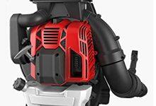 BU-KO 88CC Soplador de hojas con mochila de gasolina - Potente motor enfriado por aire de 2 tiempos - Ligero Con correas de soporte acolchadas nuevas y mejoradas mientras se usa