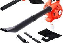 vidaXL Soplador de Hojas de Gasolina Herramienta para Jardín Máquina para Soplar Limpiar Exterior Patio Sopladora 3 en 1 26 CC Naranja