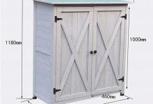 Arcón para exterior 2 puertas de madera Yishelle-sports