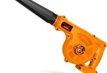 Aspirador- soplador eléctrico - Limpiador de aire de la hoja del ventilador recargable 18V de la batería del ordenador colector de polvo del limpiador del coche inalámbrico de vacío ( Color : Orange )