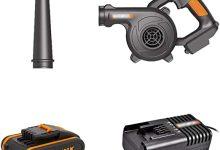 ASDFGHT Soplador de Hojas eléctrico de 3 velocidades - Soplador y aspiradora de jardín - Aspiradora y trituradora Ligera, batería de Litio de 20 voltios (Size : 2.0Ah Battery*1)