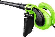 Soplador de hojas y la aspiradora soplador de nieve Handheld eléctrico de usos múltiples caja de la computadora Ventana Gap alto rendimiento de limpieza útiles herramientas (verde), Verde, 30meterline