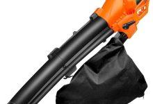 Aspiradora eléctrica Ligera Jardín soplador de hojas, naranja, 3 kW + 30m CordTool Con Turbo Ventilador ajustable de 6 velocidades del viento velocidad Adecuado for jardín al aire libre y cubierta,