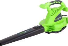 Greenworks Tools soplador/aspiradora de hojas eléctrica 2800W–2402707, 2800W, 230V, Verde
