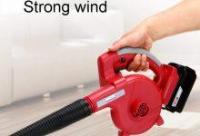 DENGS Soplado y succión de doble propósito soplador de hojas Soplador Aspirador, 21V, salida de aire: 3.0m³ / min, rojo/rojo / 21V