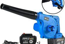 ALGWXQ Sopladores de Hojas para Exterior - Sopladora y aspiradora de jardín 3 en 1 - Aspiradora y trituradora Ligera, Cambio de Velocidad Continuo (Size : Dual Battery)