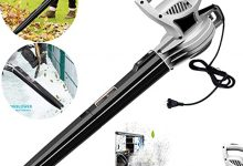 2000W Aspiradora de hojas eléctrica,260KM/H Trituradora de Sopladores de hojas eléctrica de jardín de alta potencia multifuncional, trituradora de nieve, potente máquina recolectora de polvo