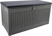 Arcón para cojines en gris/negro con 270 litros Gardtech