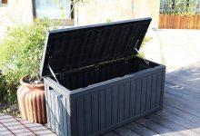Arcón Banco de jardín totalmente resistente a la intemperie XLLLL
