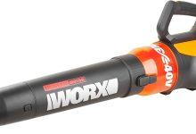 Worx wg569e.940V batería Sopladora turbina, flujo de aire 10.5m³, Blas velocidad 230km/h, sin batería, cargador y accesorios