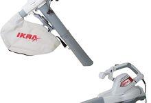 IKRA 74800250 3en1 Aspirador soplador triturador eléctrico ILS 3000 E, Incl. Saco colector 55l, Velocidad soplado 300 km/h, 3000 W, 230 V, Gris/Rojo