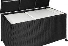 Baúl de almacenaje de poliratán con Ruedas y Estructura de Aluminio TecTake